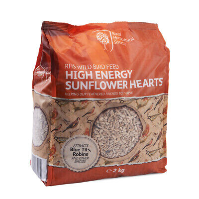 RHS Wild Bird Feed High Energy Premium Sunflower Hearts 2kg