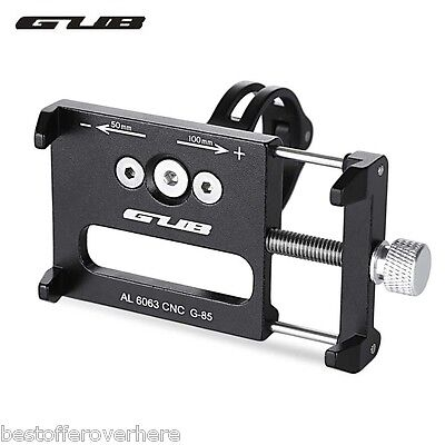 GUB G - 85 Aluminum Alloy Bicycle Handlebar Phone Holder For 3.5-6.2 inch Phone
