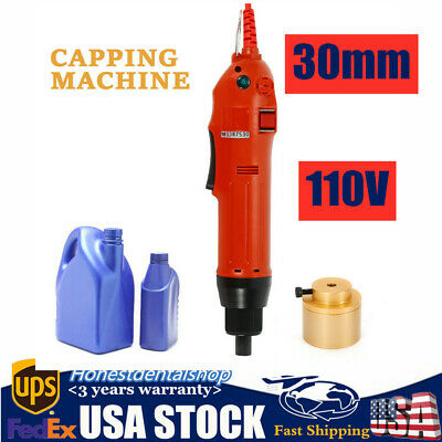 Handheld Electric Bottle Capping Machine Screw Capper Sealing 110v Us Stock 30mm