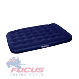 Bestway Double Inflatable Air Mattress Bed w/ Built-in Foot Pump