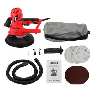 Drywall Sander Hand Held Dust Free Automatic Vacuum Plaster Ceiling LED 1000W