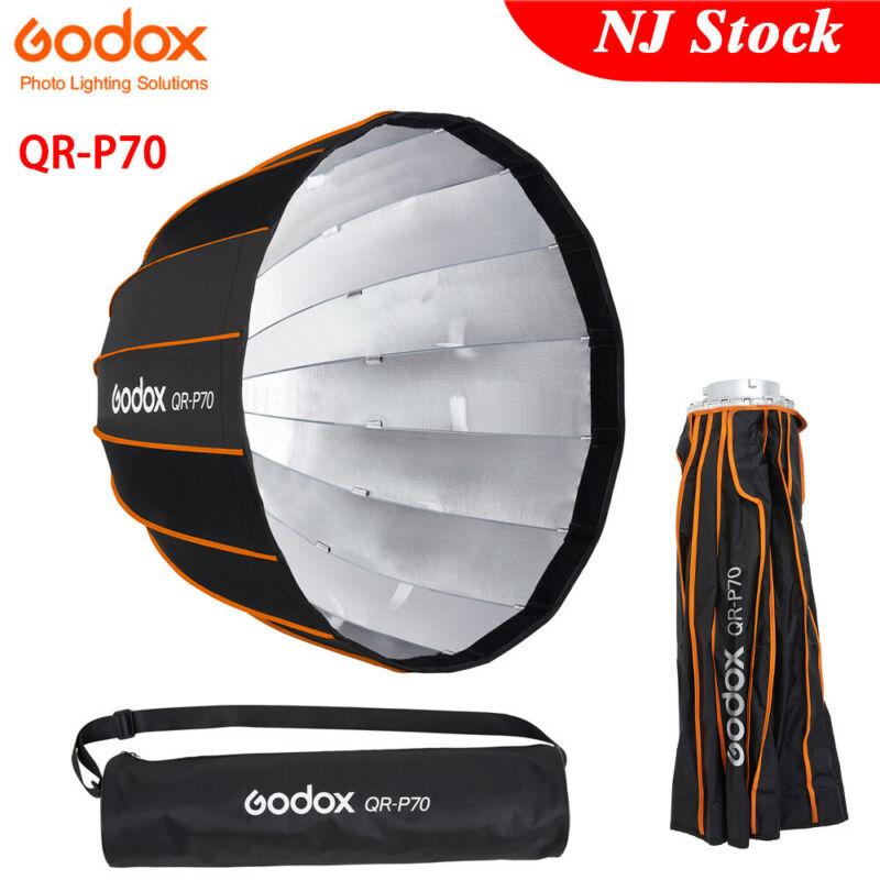 US Godox Parabolic Softbox QR-P70 70cm Bowens Softbox+Carry Bag for Studio Flash