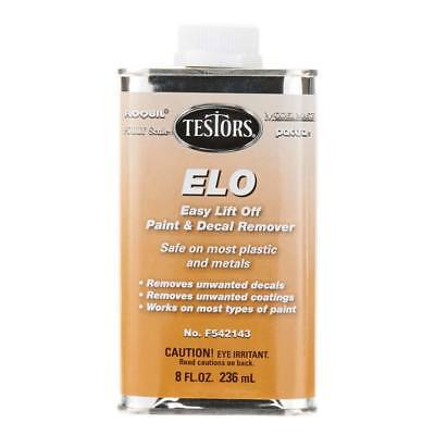 Testors Easy Lift Off Paint & Decal Remover ELO 8 oz Can Great For Model Cars (Car Paint Cans)
