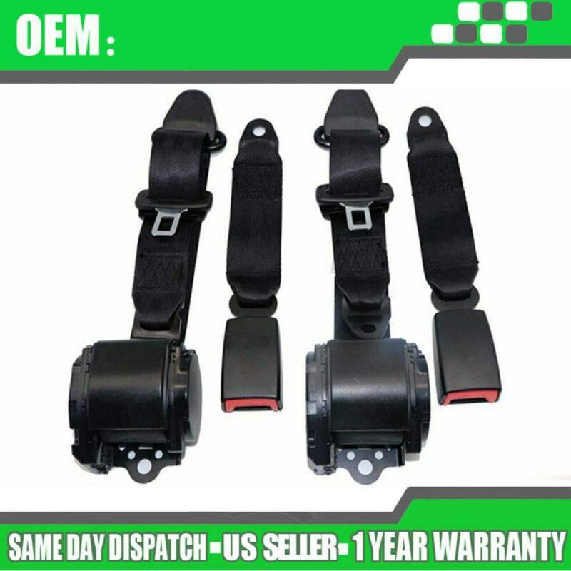 Universal 3 Point Retractable Seat Belts fit for Jeep CJ YJ Wrangler 1982-1995