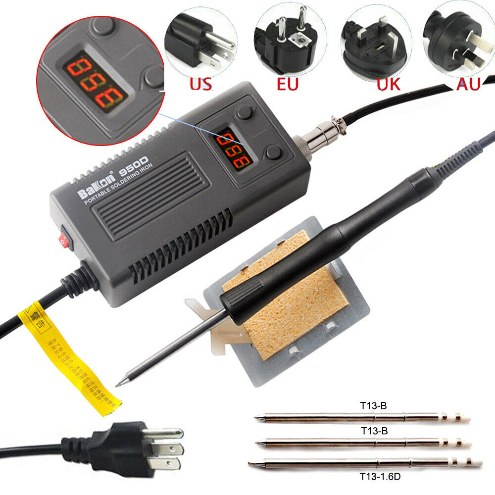 BAKON 950D 75W Mini Digital Electric Soldering Iron Portable