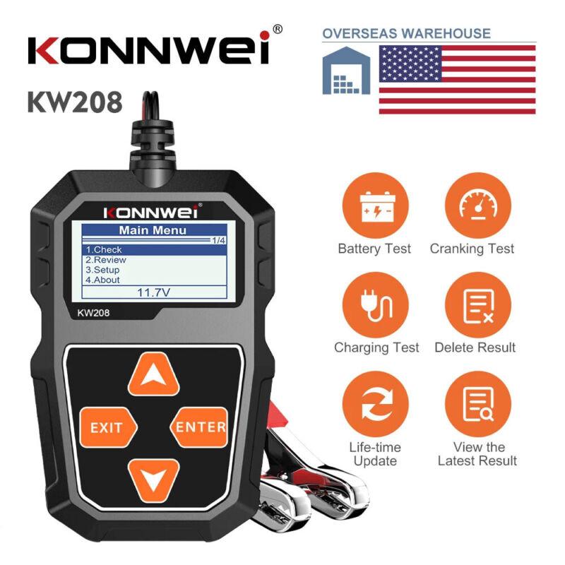 12V Auto Car Battery Tester Digital 100-2000CCA Cranking Charging Test Analyzer