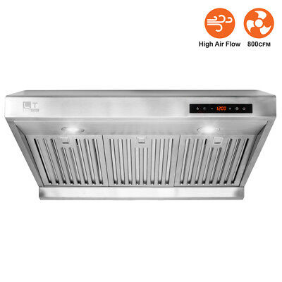 "LT Touch Screen 30"" Under Cabinet High Airflow 800CFM Ducted Range Hood RH01-R"
