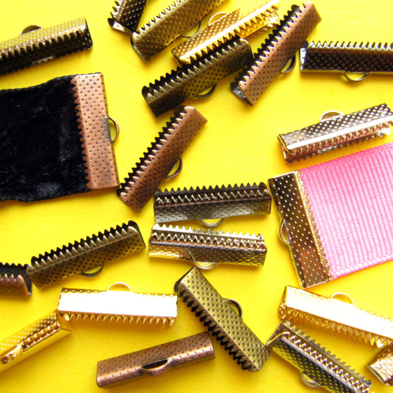 Ribbon Clamps or Ribbon Crimp Ends Shipped from USA