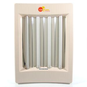 calsun facial tanning lamp timer 15w 4 bulb portable home face tan. Black Bedroom Furniture Sets. Home Design Ideas