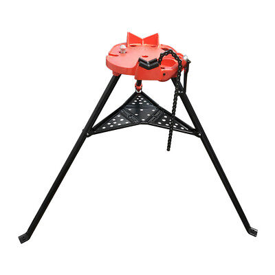 18 - 6 Portable Tristand Pipe Chain Vise Base Machine Stand Holder Legs Tray