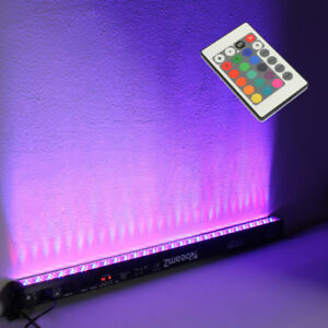 LED Bar 1M Uplighter Wall Washer Strip Light DMX Link RGB Colour Battern Batten
