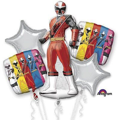 Saban's Power Ranger Happy Birthday Party Favor 5CT Foil Balloon Bouquet](Power Ranger Party)
