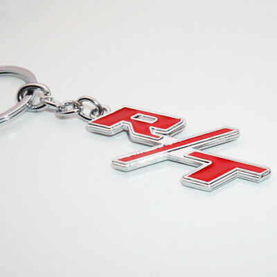 Universal For Dodge R/T 3D Alloy Car Keychain Ring Decoration Gift Emblem Sport