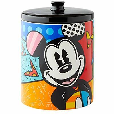 """6004975 Disney Britto Mickey Mouse Cookie Jar Canister, 9.5 Inch, Multicolor """""""