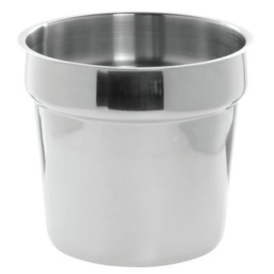 HUBERT Bain Marie Inset Pan 7 Quart Stainless Steel - 8 7/8 Dia x 8 1/4 - 7 Quart Inset Pan