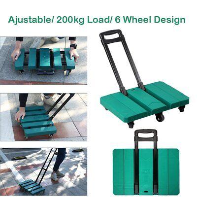 200kg Heavy Duty Lightweight Folding Foldable Hand Sack Truck Shopping Trolley