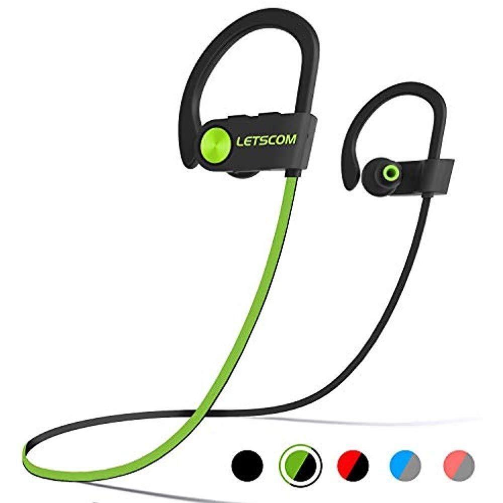 LETSCOM Bluetooth Headphones IPX7 Waterproof Wireless Sport
