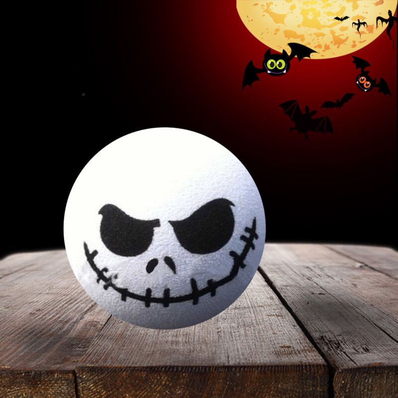 1x EVA White /& Black Halloween Skull Car Antenna Topper Aerial Ball Decoration