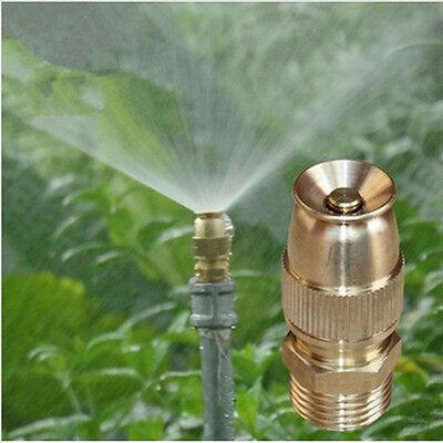 Irrigation Water Garden Adjustable Sprinkler Head Brass Spray Misting Nozzle