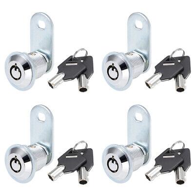 Set Of 24pcs Tubular Cam Lock With 58 Cylinder And Chrome Finish Keyed Alike