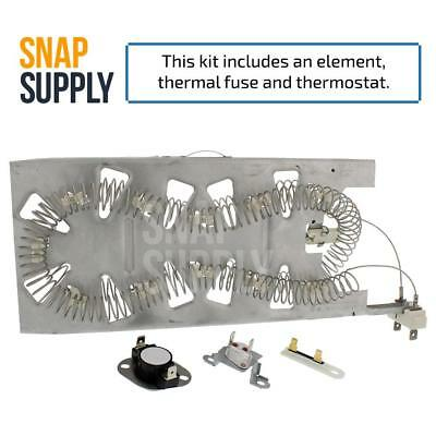 Snap Supply Dryer Element & Thermostat KIT for Whirlpool 3387747 & 3392519