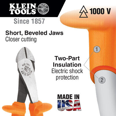 Klein Tools D228-8-INS 8-Inch Insulated Pliers, Diagonal Cutters