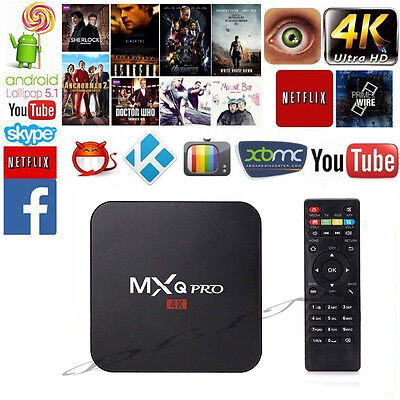 MXQ PRO S905X Android 6.0 TV BOX 4K 8GB KODI Quad Core HD 1080p WIFI HDMI Player