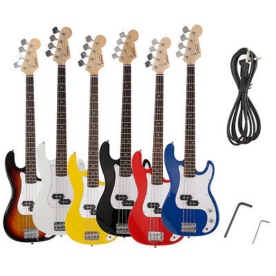 New Glarry 6 Colors Electric 4-Strings  Bass Guitar + Cord + Wrench