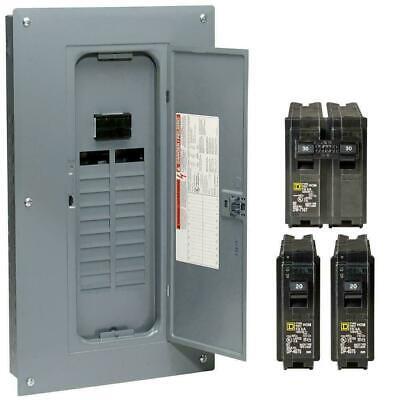 Square D 100 Amp 40-circuit 20-space Indoor Main Breaker Box Panel Load Center