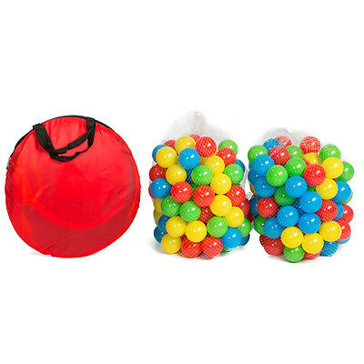 Kinderspielzelt + 200 Bälle Kinderzelt Bällebad Spielbälle Spielzelt Pop Up Ball