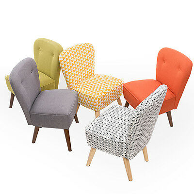 Bedroom Living Room Chairs Accent Chair Occasional Lounge Retro Style Furniture