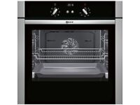 Neff B44S53N5GB 60cm Built In Single Electric Fan Oven with Slide and Hide Door
