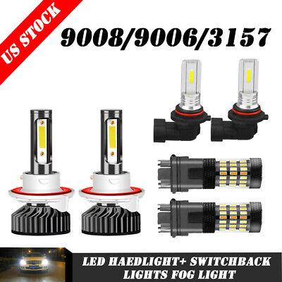 6x For Dodge Ram 1500 2500 3500 06-08 LED Headlight Fog Light+ Switchback Lights