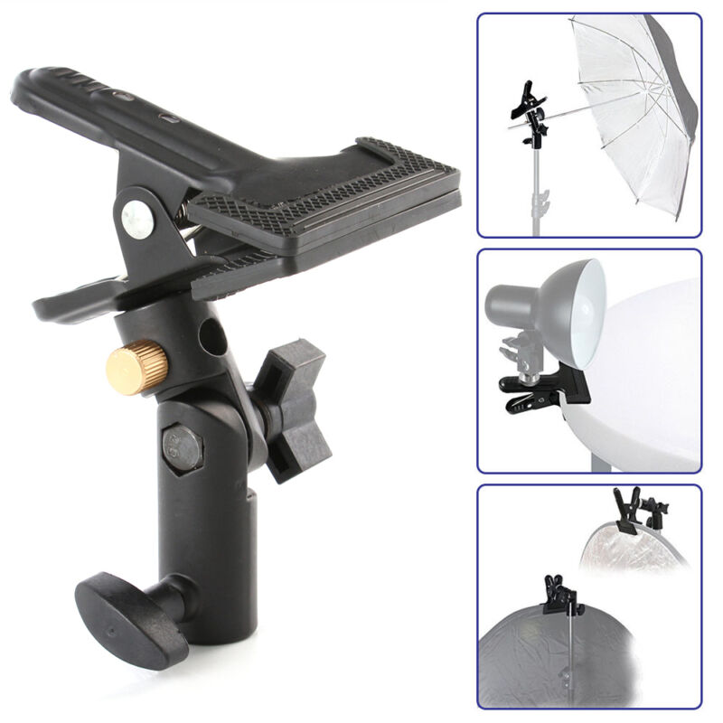 "Studio Swivel Light Stand Reflector Background Heavy Duty Holder Clip Clamp 5/8"""