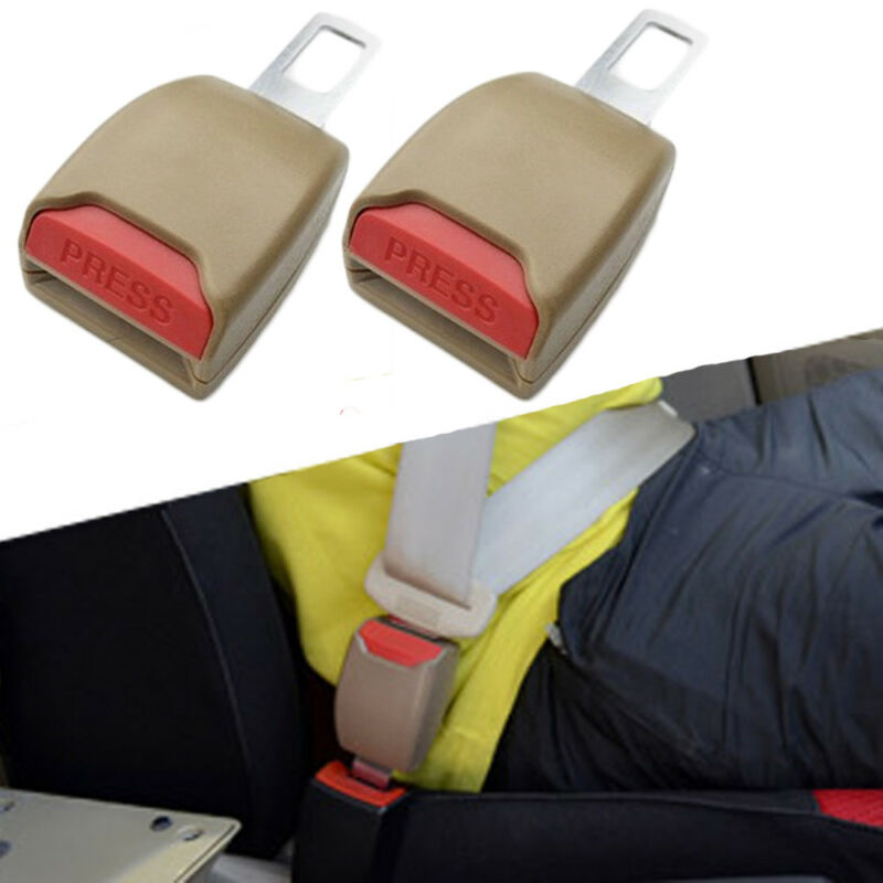 "2pc 14/"" Car Auto Seat Belt Clips Buckle Strap Extender Extension Safety Comfort"