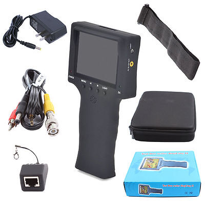 "Portable 3.5"" Color LCD CCTV Security Camera Video Test Tester Detector RJ45"