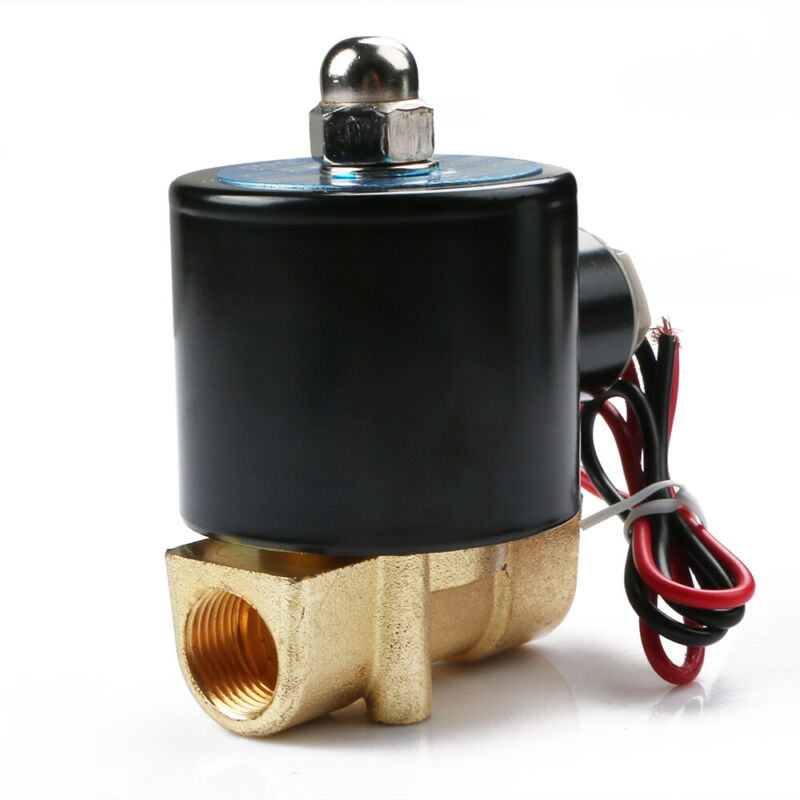 3/8″DC12 Alloy Electric Solenoid Valve N/C Gas Water Fuel Air Solid Coil New