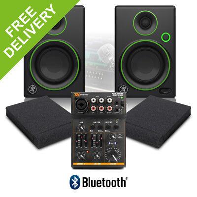 "Mackie CR3 3"" Powered Home Studio DJ Monitors Speakers with USB Bluetooth Mixer"