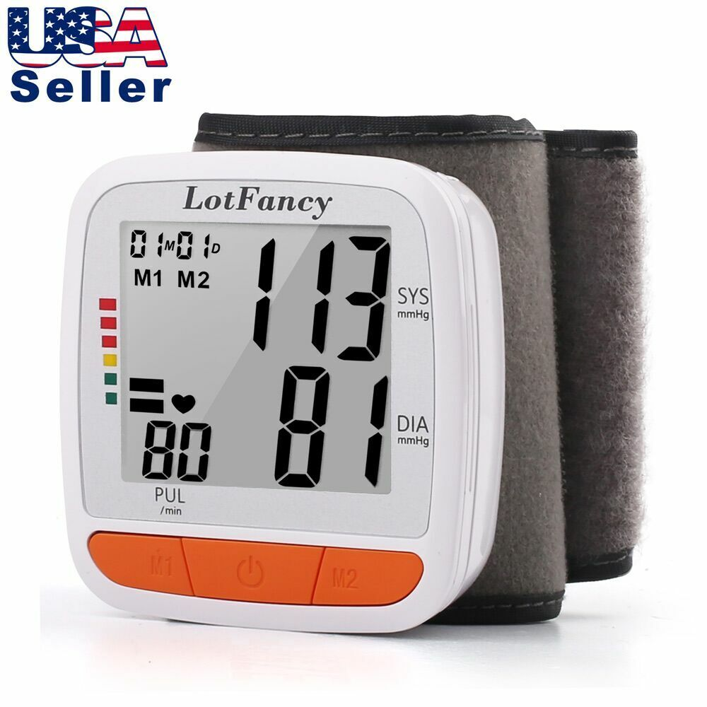 Wrist Blood Pressure Monitor BP Cuff Outdoor Indoor Heat Rat