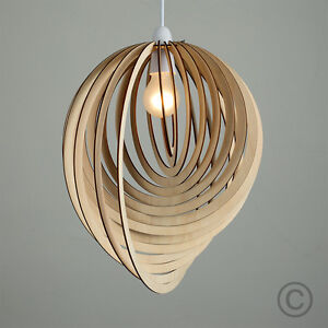 Wooden lampshade ebay modern wooden droplet ceiling pendant light shade lounge lampshade lighting home aloadofball Gallery