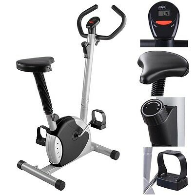 Exercise Bike Fintess Cycling Machine Cardio Aerobic Equipment Workout Gym Black