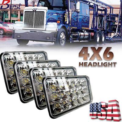2002 Freightliner (4pcs 4x6'' Led Headlight Hi-Lo Sealed Beam for Peterbilt Kenworth Isuzu Truck )