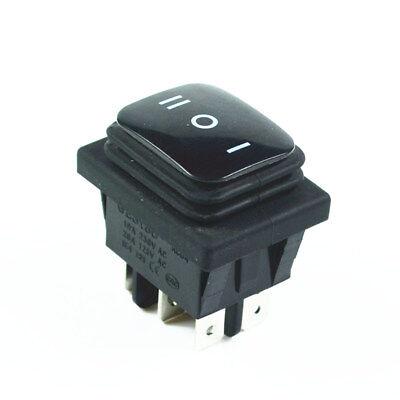 Black Waterproof Latching Rocker Switch 6pin 3 Position 16av250ac 20aac125v