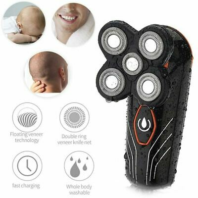 Rechargeable 5 Gourd Floating Men Electric Shaver Beard Hair Trimmer Bald Razor