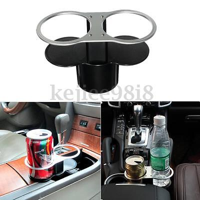 Universal Double Cup Bottle Base Holder Auto Car Seat Dual Wedge Beverage Stand
