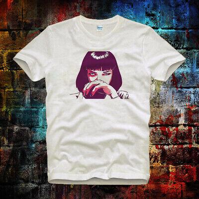 Pulp Fiction Vintage Super CooL Unisex& Ladies T Shirt 113b (Mia Wallace)