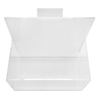 Single Hosiery Bin Holder Slatwall Clear Acrylic Lucite Display 7 X 4 X 7