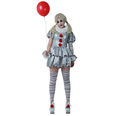 Pennywise Women Cosplay Costume the Dancing Clown Costume for Halloween](Pennywise Halloween Costume)