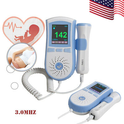Lcd Fetal Doppler 3mhz Baby Heartbeat Monitor Lcd Dual Interface 3mode Usa