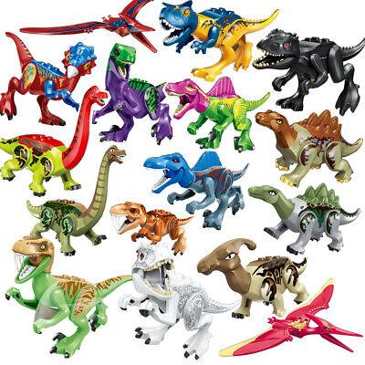 16Stk Jurassic Park World Dinosaur Kids Building Blocks Mini figure Toy Fit Lego